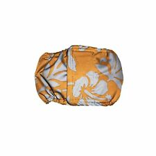 Male Dog Diaper - Made in USA - Blue Hawaiian Hibiscus Flower on Brown Washab...