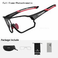 RockBros Photochromic Cycling Glasses 100% UV400 Sunglasses Goggles Eyewear New