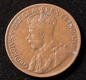 1919 Canada 1 Large Cent Old Coin