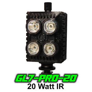 Ghost Light™ GL7-PRO-20 , 20 Watt IR LED light for Infrared Full Spectrum Camera