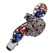 USA Hair Clip Claw Jaw using Swarovski Crystal Hairpin Vintage Peacock Blue Gray