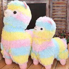 "Alpacasso Large Rainbow Kawaii Plush Alpaca Llama Toy Doll 5"" 7"" 14''"