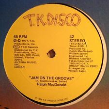 "Ralph MacDonald ""Jam on the Groove"" RARE Funk/Breaks T.K. Disco Recs 1977 VG+"
