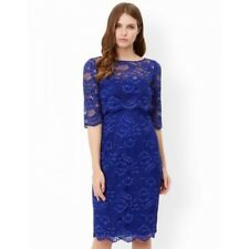 BNWT Monsoon Marigold Blue Lace Cocktail Evening Dress & Shrug Outfit Size 12