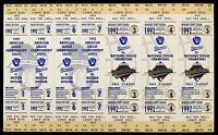 "1992 Milwaukee Brewers Phantom ALCS World Series 7-Ticket Uncut Sheet 7"" x 12"""