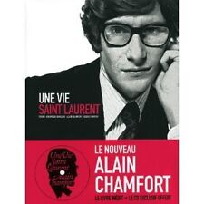 YVES SAINT LAURENT :  UNE VIE SAINT LAURENT CD CHAMFORT + LIVRE/ R MURPHY