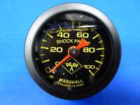"""Marshall Gauge 0-100 psi Fuel Pressure Oil Pressure 1.5"""" Midnight Black Liquid"""