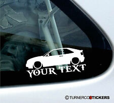 Custom Text, Low VW Corrado VR6, G60, 16v Volkswagen Sticker / Decal