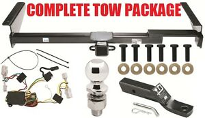 COMPLETE TRAILER HITCH TOW PACKAGE FITS 2001-2003 TOYOTA HIGHLANDER ~ NO DRILL