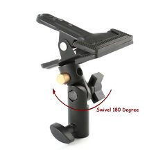 "Swivel Studio Reflector Clamp Background Heavy Duty Holder Clip 5/8"" Light Stand"