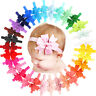 Baby Girls Headbands 30 Colors Ribbon Hair Bows Head Wear For Newborns Toddlers
