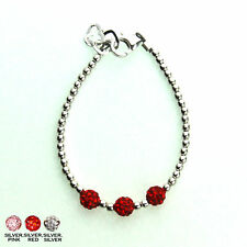 Sterling SIlver Mini Beads and Pave Beads Bracelet