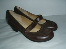 Softspots Womens Shoes Mary Jane Leather Size 9.5 medium brown