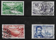 Switzerland Scott #B57-60, Singles 1931 Complete Set FVF Used