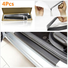 4PCS Carbon Fiber Style Car Door Sill Scuff Plate Car Sticker Anti-kick Scratch