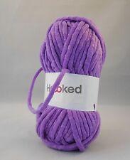 Hoooked soft néons ruban fil-crochet-violet encastré super doux craft