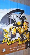 LA GRANDE AVENTURE !  affiche cinema  cannes 1953 montagne