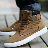 Shoes Oxfords Casual Canvas High Mens Leather Sneakers Top Fashion New