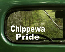 2 CHIPPEWA PRIDE DECALS Native American Sticker Car Truck Laptop Bumper Window