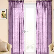Value by Wayfair Slot Top Single Panel Curtain Purple 135cm W X 299cm L