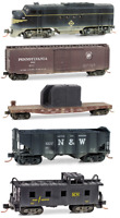 Erie FT & 4 Car Eastern Train Set Special Edition Weathered MTL#99301250 N Scale