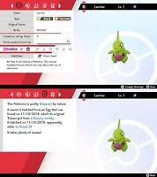 Larvitar - Shiny - 6IV - Best nature - Pokemon Sword / Shield
