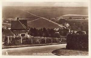 RP POSTCARD - THE DOWNS FROM FRISTON, EAST SUSSEX - TUCK