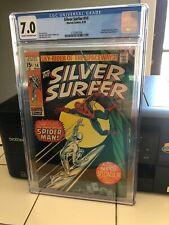 Silver Surfer #14, CGC FN/VF 7.0, Spider-Man