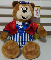WOODY TEDDY BEAR PLUSH TOY! SOFT TOY ABOUT 28CM SEATED KIDS TOY WITH TAG!