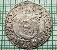POLAND LITHUANIA SIGISMUND III WASA 1621 1-1/2 GROSZ GROSCHEN - POLTORAK, SILVER