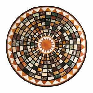 "30"" Marble Inlay Center Table Top Pietra Dura Art handmade Home Decor"