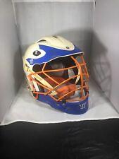 BRINE Warrior T2 lacrosse orange And Blue helmet adult size