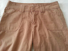 Lee Womens One True Fit Lower On The Waist Cropped Capri Pants Tan size 9/10