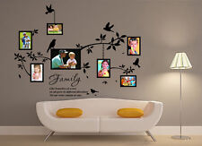 Family Branch Photo Frame Wall Sticker Vinly Decal Decor UK RUI151
