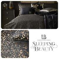Laurence Llewelyn-Bowen ROAR Black & Gold Leopard Spot Jacquard Woven Duvet Set