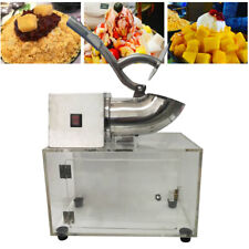 Commercial Electric Snow Cone Machine Ice Shaver Crusher Maker Stainless Durable