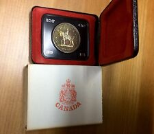 1973 CANADA RCMP  Royal Canadian Mounted Police cased silver dollar-No Tax