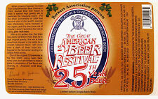 Boulder Beer Co. 25TH YEAR LTD EDN GREAT AMERICAN BEER FESTIVAL label CO 22oz