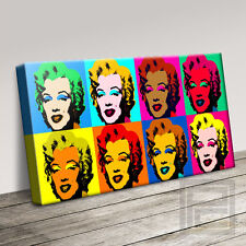 Andy WARHOL MARILYN MONROE Moderno Tela iconica ART PRINT PICTURE ART Williams