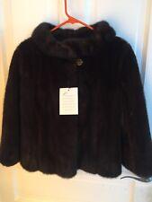 LBN Dark Brown Short real  Fur Jacket