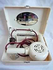 VINTAGE BAKELITE WHITE ORMOND E1022 HAIR DRYER IN BAKELITE CASE WITH MIRROR