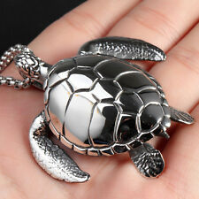 New Fashion Sea Turtle Pendant 316L Stainless Steel Men's Silver Tone Necklace