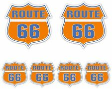 Route 66 Sticker set car motorbike van chopper hotrod Guitar Laptop Decal