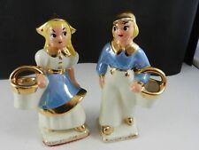 Made in California Figurines Dutch Children Boy & Girl Set ca 1940's-50