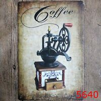 Metal Tin Sign coffee maker Bar Pub Home Vintage Retro Poster Cafe ART