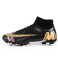 Men's Football Boots Soccer Sneakers High Ankle Athletic Sports Training Cleats