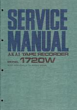 Akai Service Manual für Tape Recorder 1720 L/W