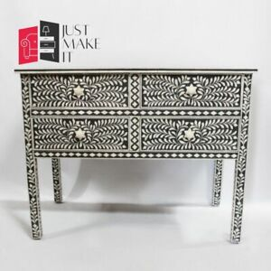 Bone Inlay sideboard Black and White Floral S (MADE TO ORDER)