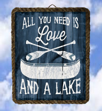 Lake 18 All You Need Is Love lalarry Lake Decor Art Prints vintage framed