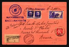 Italy 1934 Cash Delivery Registered Cover / Light Fold - Z17893